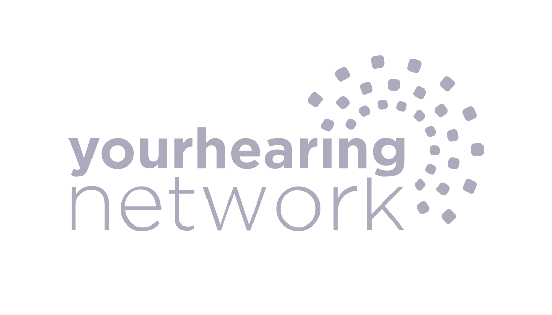 Your Hearing Network logo light purple