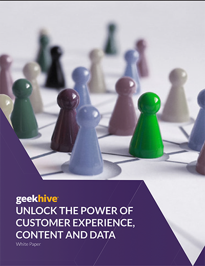 Book cover for Unlock the Power of CX, Content and Data.