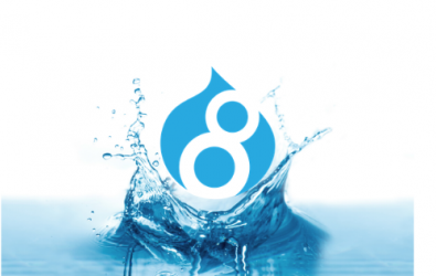 Drupal 8 in water splash